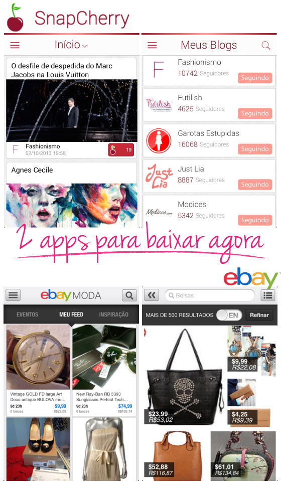 snapcherry-ebay-moda-apps-aplicativos-android-iphone-starving-leitor-