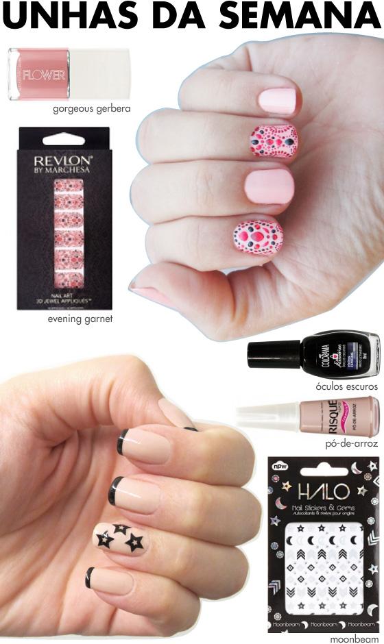unhas-de-segunda-unhas-diferentes-e-nail-art-adesivos-marchesa-revlon-unhas-esmalte-gap-rosa-adesivo-npw-halo-moonbeam-inglesinha-oculos-escuros-colorama