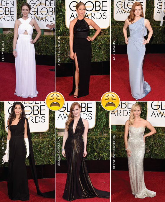 golden-globes-globe-2015-looks-red-carpet-emily-blunt-jennifer-aniston-amy-adams-amal-clooney-jessica-chastain-reese