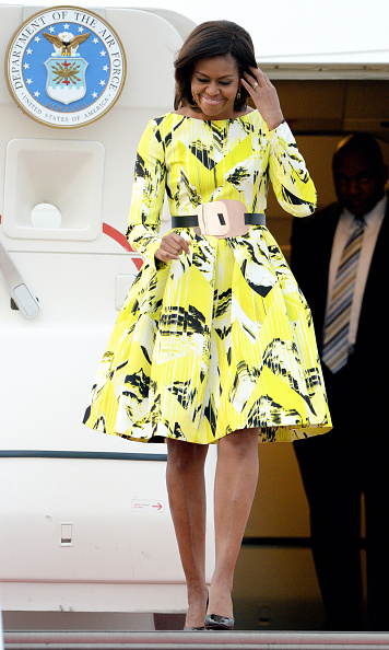U.S. First Lady Michelle Obama Arrives Japan