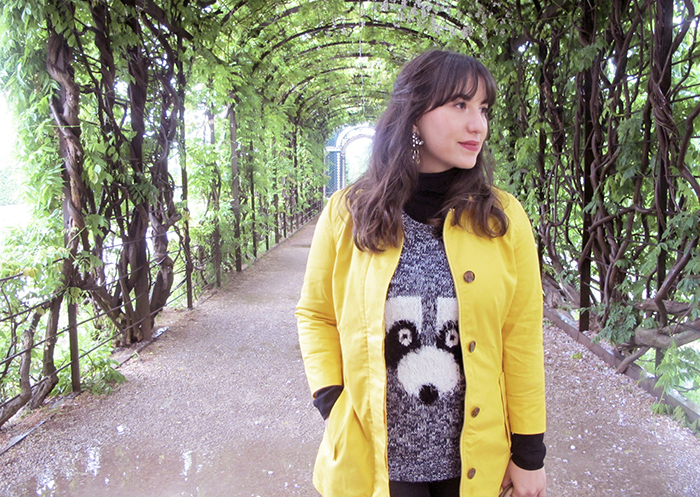 look-do-dia-mandy-blog-starving-europa-viena-wien-schonbrunn-palace-capa-amarela-banana-republic-sweater-divertido