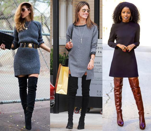 como-usar-botas-over-the-knee-botas-acima-do-joelho-vestido-looks