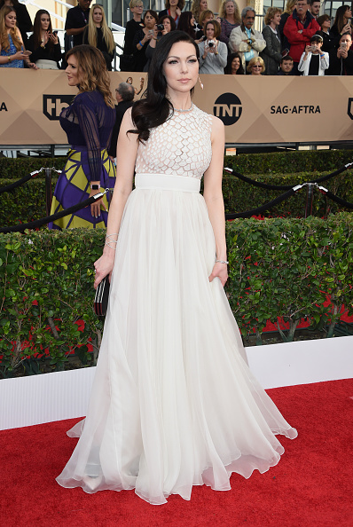 Actress Laura Prepon attends the 22nd Annual Screen Actors Guild Awards at The Shrine Auditorium on January 30, 2016 in Los Angeles, California. AFP PHOTO / MARK RALSTON / AFP / MARK RALSTON (Photo credit should read MARK RALSTON/AFP/Getty Images)