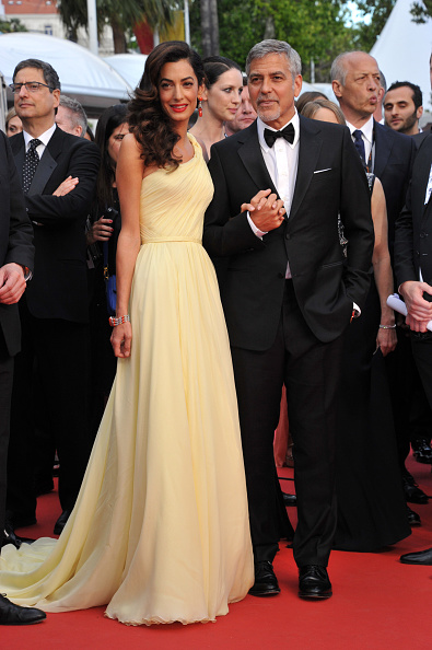 CANNES, FRANCE - MAY 12: George Clooney and Amal Alamuddin attend 'Money Monster' Red carpet prior to the 69th annual Cannes Film Festival on May 10, 2016 in Cannes, France. (Photo by Camilla Morandi - Corbis)