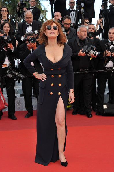 CANNES, FRANCE - MAY 12: Susan Sarandon attends 'Money Monster' Red carpet prior to the 69th annual Cannes Film Festival on May 10, 2016 in Cannes, France. (Photo by Camilla Morandi - Corbis)