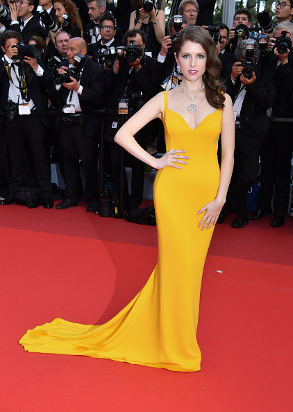 """CANNES, FRANCE - MAY 11: Anna Kendrick attends the screening of """"Cafe Society"""" at the opening gala of the annual 69th Cannes Film Festival at Palais des Festivals on May 11, 2016 in Cannes, France. (Photo by George Pimentel/WireImage)"""