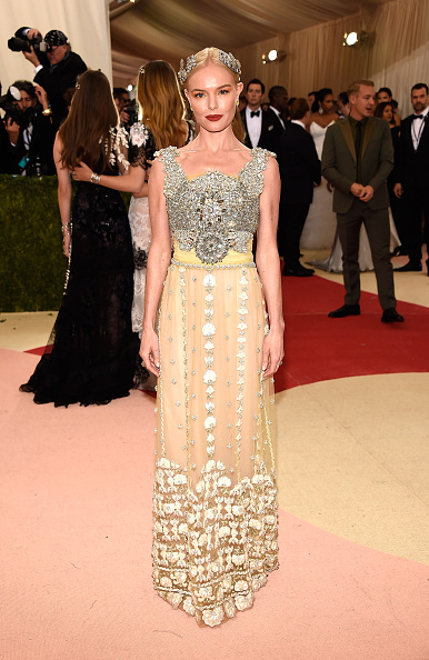 """NEW YORK, NY - MAY 02:  Kate Bosworth  attends """"Manus x Machina: Fashion In An Age Of Technology"""" Costume Institute Gala at Metropolitan Museum of Art on May 2, 2016 in New York City.  (Photo by Kevin Mazur/WireImage)"""