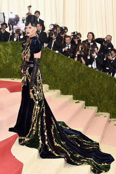 """NEW YORK, NY - MAY 02:  Katy Perry attends the """"Manus x Machina: Fashion In An Age Of Technology"""" Costume Institute Gala at Metropolitan Museum of Art on May 2, 2016 in New York City.  (Photo by John Shearer/Getty Images)"""