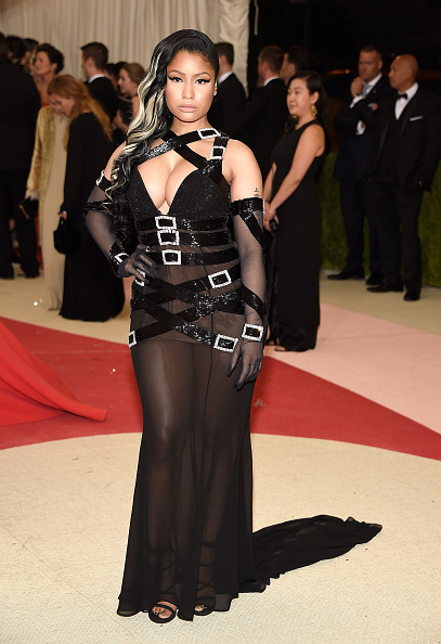 """NEW YORK, NY - MAY 02:  Nicki Minaj  attends """"Manus x Machina: Fashion In An Age Of Technology"""" Costume Institute Gala at Metropolitan Museum of Art on May 2, 2016 in New York City.  (Photo by Kevin Mazur/WireImage)"""