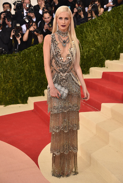 """NEW YORK, NY - MAY 02:  Poppy Delevingne attends the """"Manus x Machina: Fashion In An Age Of Technology"""" Costume Institute Gala at Metropolitan Museum of Art on May 2, 2016 in New York City.  (Photo by Dimitrios Kambouris/Getty Images)"""