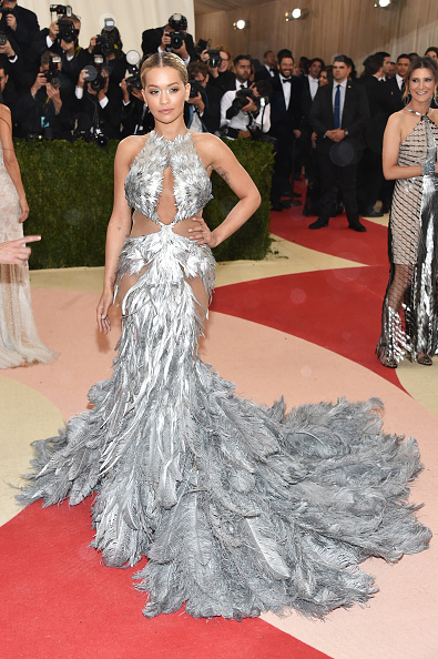 """NEW YORK, NY - MAY 02: Rita Ora attends the """"Manus x Machina: Fashion In An Age Of Technology"""" Costume Institute Gala at Metropolitan Museum of Art on May 2, 2016 in New York City.  (Photo by John Shearer/Getty Images)"""