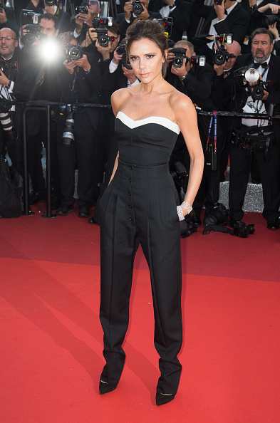 """CANNES, FRANCE - MAY 11: Victoria Beckham attends the screening of """"Cafe Society"""" at the opening gala of the annual 69th Cannes Film Festival at Palais des Festivals on May 11, 2016 in Cannes, France. (Photo by Samir Hussein/WireImage)"""