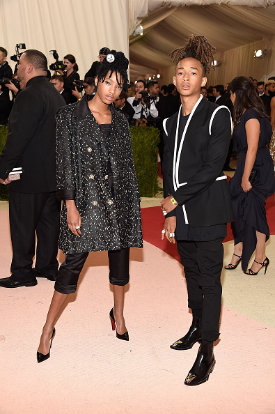 """NEW YORK, NY - MAY 02:  Willow Smith and Jaden Smith attend """"Manus x Machina: Fashion In An Age Of Technology"""" Costume Institute Gala at Metropolitan Museum of Art on May 2, 2016 in New York City.  (Photo by Kevin Mazur/WireImage)"""